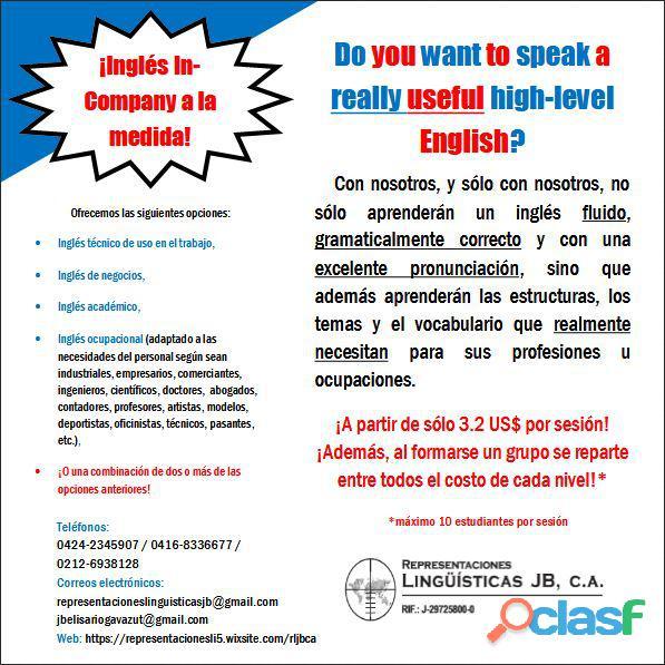 Cursos de inglés especializados in company