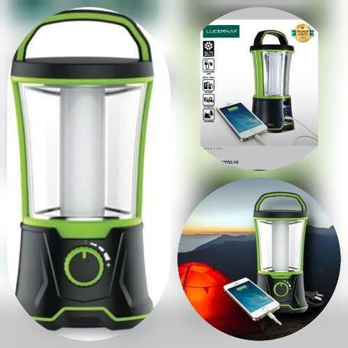 Lámpara de emergencia led camping con power bank (25 vds)