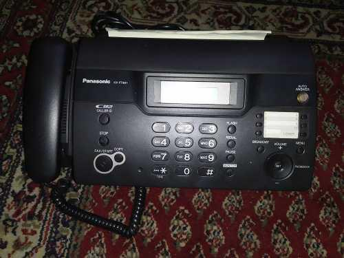 Teléfono fax panasonic + papel (nuevo de paquete) nunca