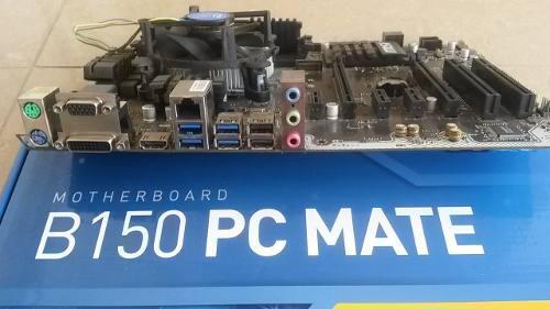 Combo tarjeta madre msi intel 1151, procesador, memoria ddr4