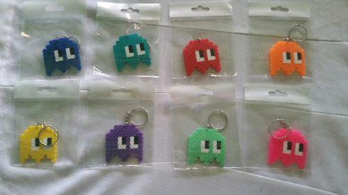 Llaveros Fantasma De Pacman En Hama Beads.