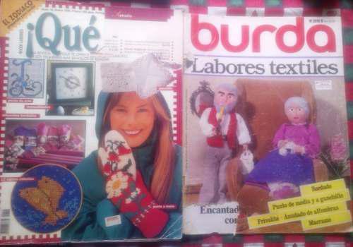 Revistas burda con patrones 2x30.000 bs