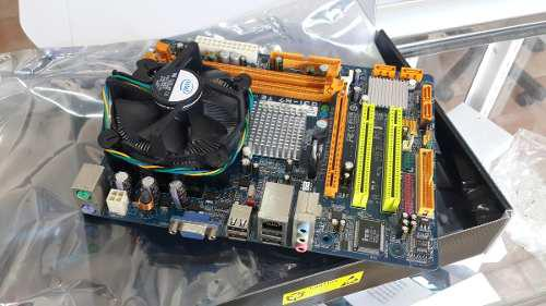 Tarjeta madre 775 ddr2 con procesador dualcore y fancooler