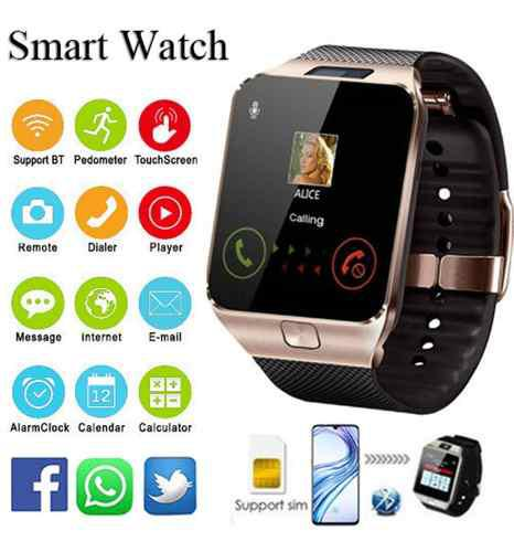 Smart whatch dz09 reloj inteligente telefono + extra.