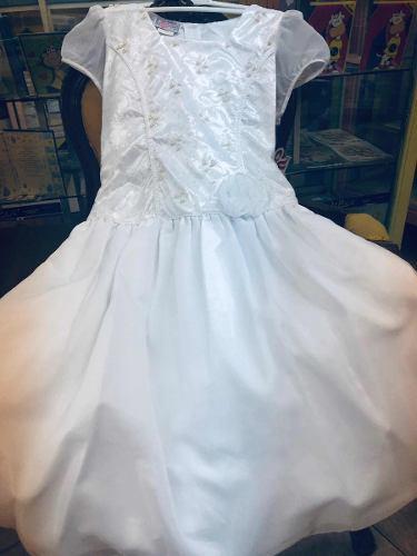 Vestido niña, primera comunión blanco