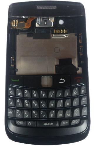Carcasa blackberry bold 4 9780 con contacto negra completa