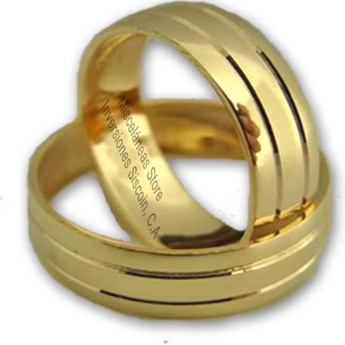 Anillos bodas matrimonio compromiso alianza 10k precio x gr