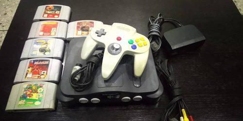 Nintendo 64 + 1 control + 6 juegos
