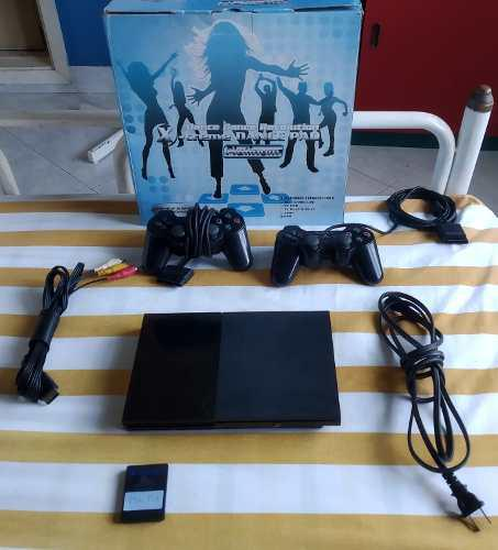 Play station 2 slim (ps2) con todos sus accesorios impecable