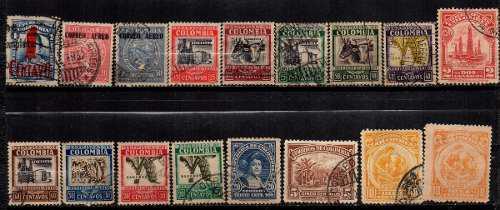 Estampillas colombia 1932 usadas