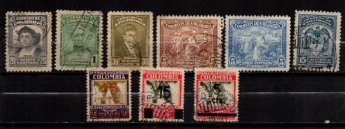 Estampillas Colombia 1939 Usadas