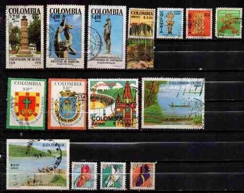Estampillas colombia 1978-79 usadas