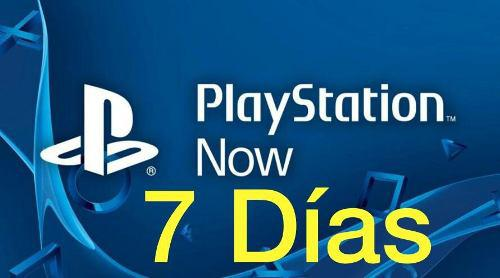 Playstation now 7 dias 15.000 bs.s