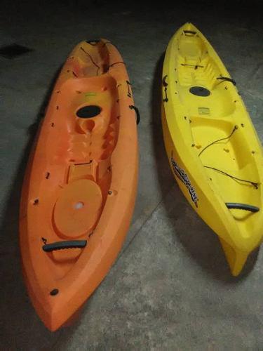 Remato kayak ocean scrambler 11 naranja y amarillo w/remos