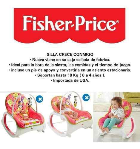 Silla fisher price para niña crece conmigo nueva