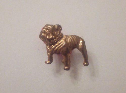 Viejo pin perro bull dog de mack en bronce