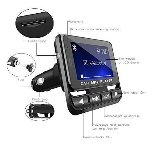 Audio video tohayie transmisor fm bluetooth amz