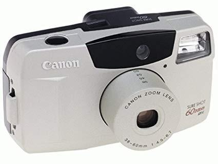 Camara canon sure shot 60 zoom cámara de 35 mm