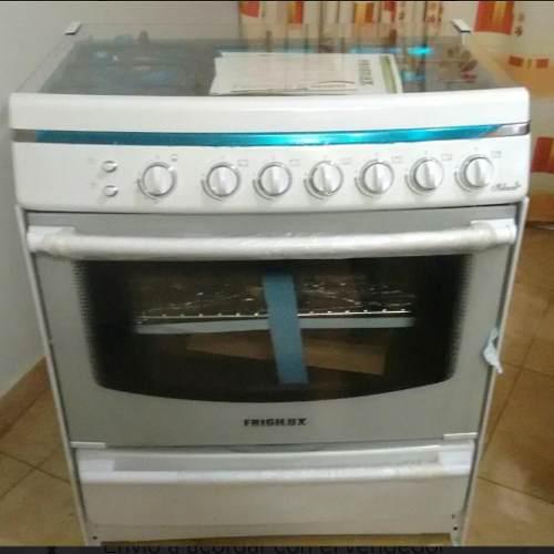 Cocina frigilux riham 6 hornillas blanca gas nueva sin uso
