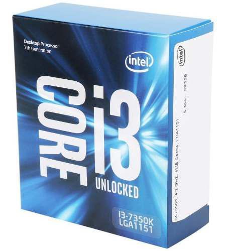 Procesador intel 4.2ghz i3-7350k 4mb cache, lga1151, 7ma gen