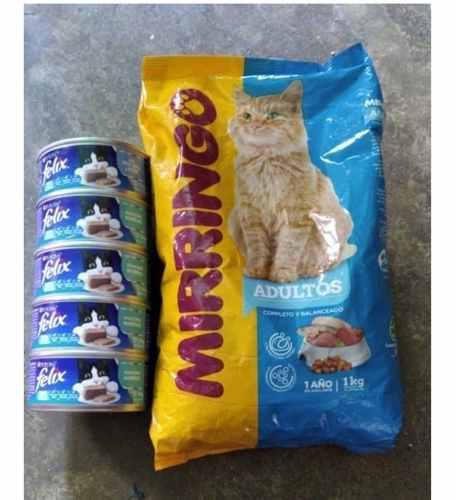 Comida para gatos miringo 1kg y 5 latas