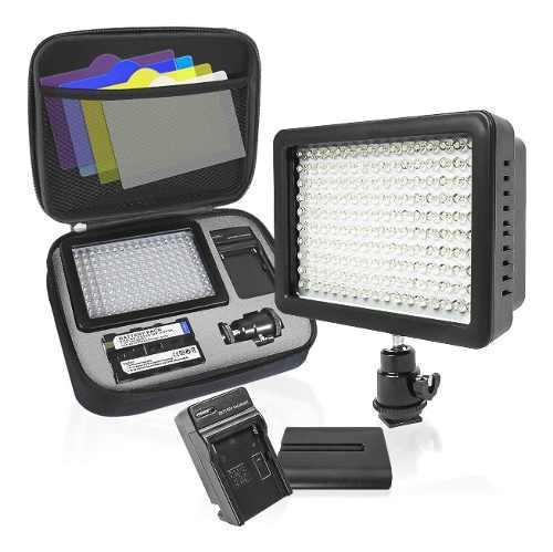 Limostudio 160 led on camera led light kit with battery