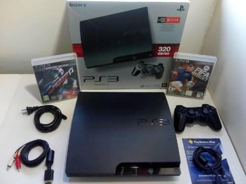 Playstation® 3 slim 320 gb (control + 32 juegos)