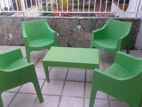 Poltrona plástica tipo rattan (80 verdes) sillas plásticas