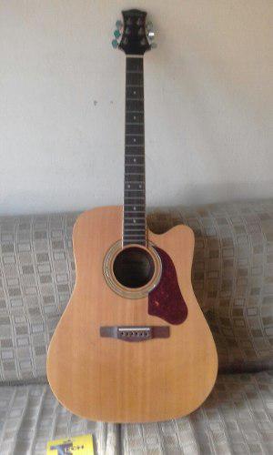 Guitarra electroacústica. acústica folk cuerdas de metal