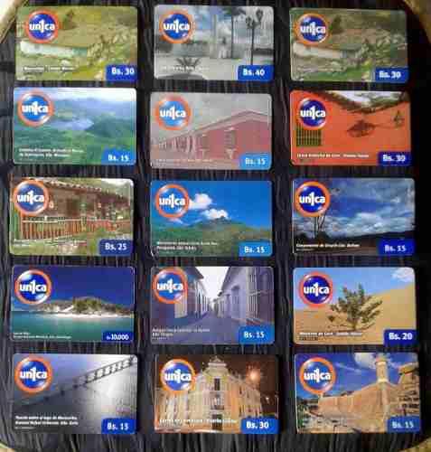 208 tarjetas telefónicas de cantv unica para coleccionar
