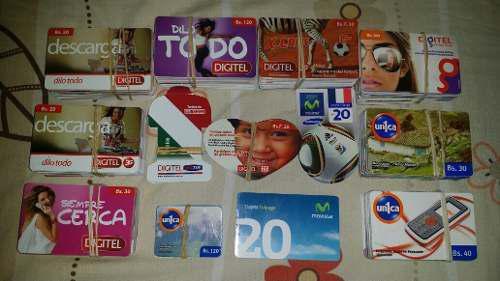 Colección de 831 tarjetas telefónicas digitel única y