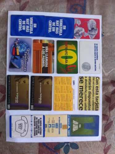 Colección tarjetas telefónicas cantv vintage años 90s,