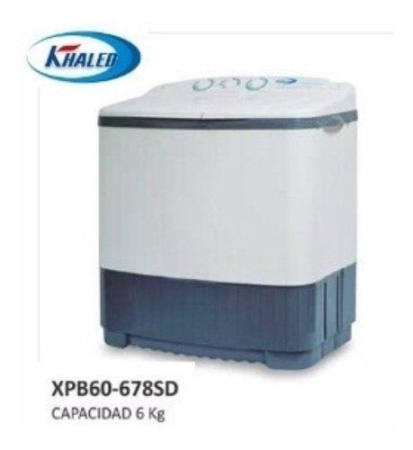 Lavadola khaled de 6 kg semi-automatica