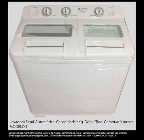 Lavadora semi automatica varios modelos doble tina
