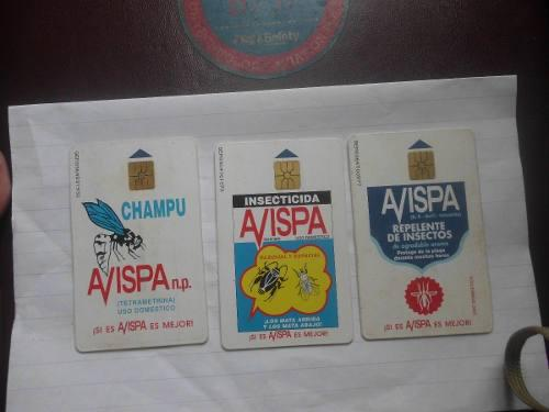 Tarjetas telefonicas de cantv usadas serie completa avispa