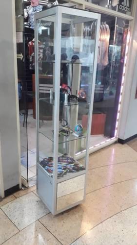 Vitrina exhibidora oferta con ruedas para tienda