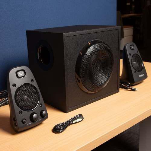 Cornetas 2.1 logitech z623 speakers sonido subwoofer thx