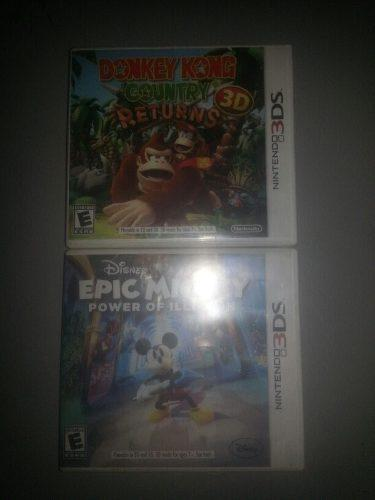 Donkey kong country return epic mickey juegos nintendo 3ds