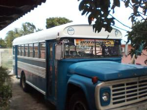 Autobus blue bird 77