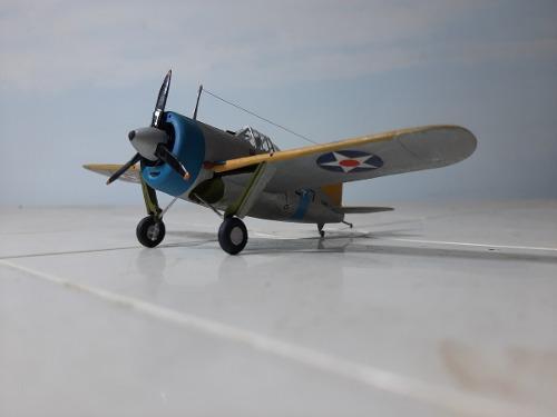 Avion caza brewster buffalo f2a
