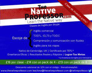 Clases de inglés por skype con un profesor nativo de
