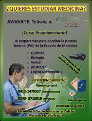 Curso preuniversitario (medicina, bioanalisis, enfermeria)