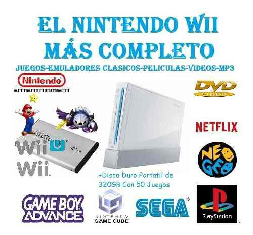 Nintendo wii chip 2020 + dd con 50 juegos de tu elección!!!