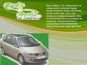 Rod´s motor c.a. financiamos tu vehiculo con o sin inicial