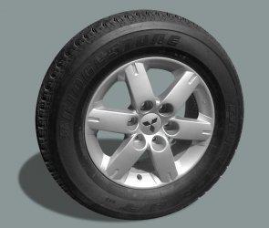 Vendo 5 de ruedas con rines de mitsubishi montero 2007
