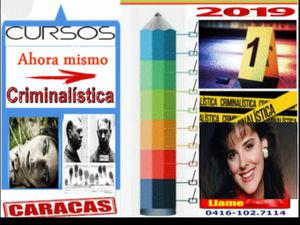 Cursos de criminalística caracas venezuela 2019