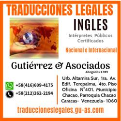 Traducciones juridicas y legales de ingles por interpretes