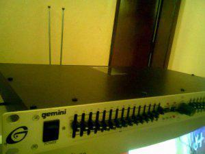 Ecualizador grafico 15 bandas por canal marca gemini eq