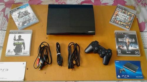 Play station 3.500 gb. consola. control. 4 juegos físicos