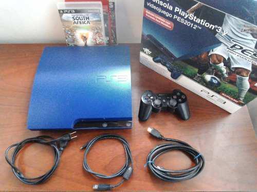 Playstation® 3 slim 160 gb (control + 3 juegos + hdmi)
